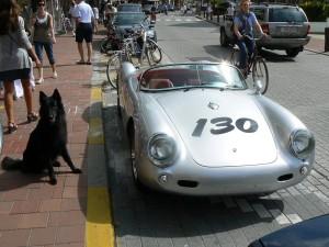 Porsche 550A Spyder replika Knokke-ban. Dorisnak is tetszett.